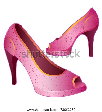 Pink lady's shoes