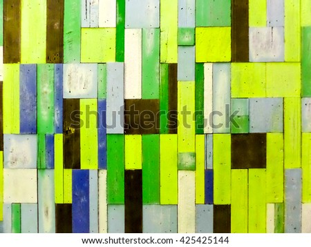 pink light green wood pieces vertical random multi-color background