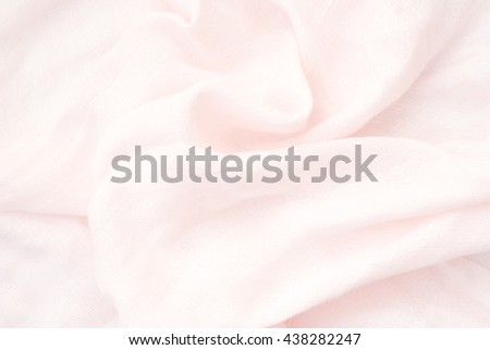 pink linen - close up of wrinkled textile - bright light background