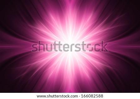 Pink luminous rays background - stock photo