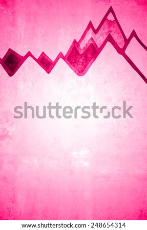 pink mountain background - stock photo