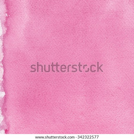 Pink natural handmade aquarelle painting texture pattern, vertical textured watercolor paper macro closeup copy space background, large detailed sheet
