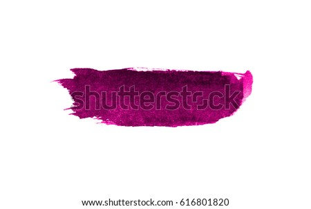Pink of color strokes on white background with clipping path
