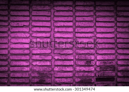pink old brick wall texture background - stock photo