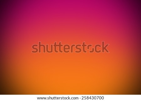 pink orange gradient abstract curve background with vignette. - stock photo