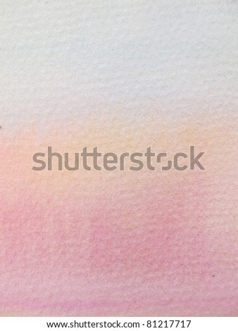 Pink & Orange Pastel Watercolor Background 2 - stock photo