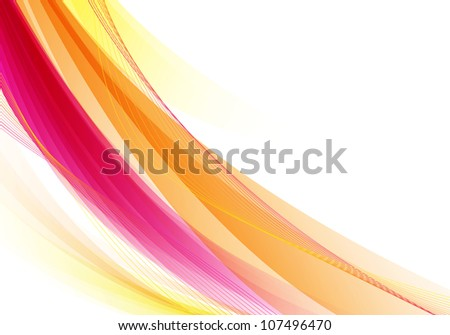 Pink / orange smooth abstract background. Raster version - stock photo