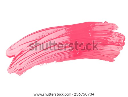 Pink Paint Drawn With Brush