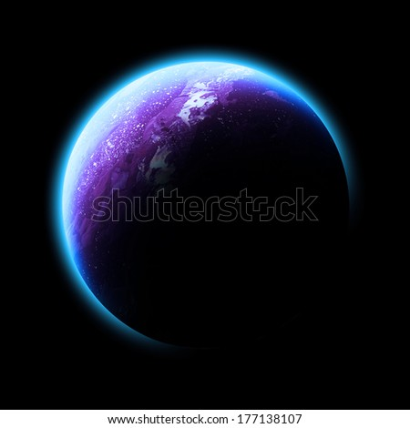 Pink Planet Isolated - Elements of this image furnished by NASA
