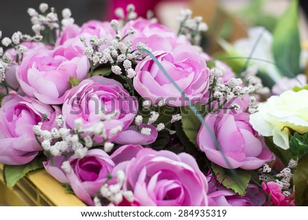 Pink plastic flowers stock photo royalty free 284935319 shutterstock pink plastic flowers mightylinksfo