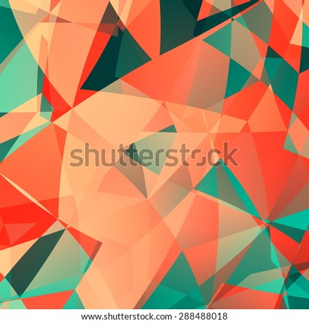 Pink polygonal technology backdrop. Design for web page, business or flyer. Art illustration. Pattern for fashion designer. Color pattern. Computer screen wallpaper. Glass crystal composition. - stock photo