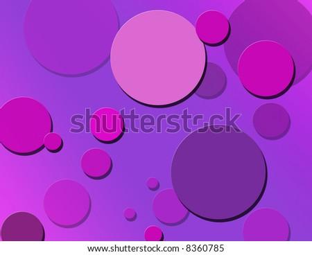 Pink & purple bubble background - stock photo