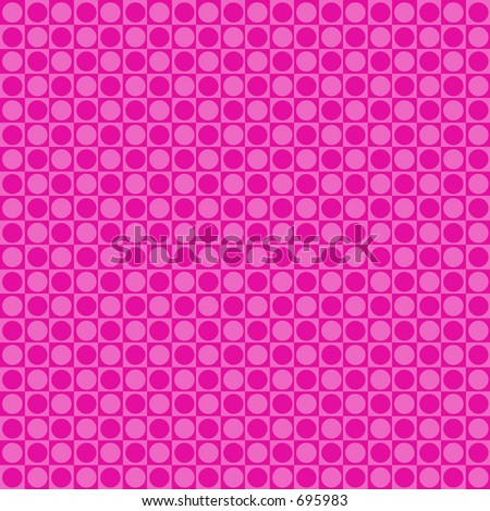 Pink retro dot background - stock photo