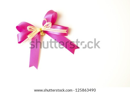 pink ribbon isolated on background