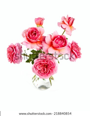 pink rose bouquet - stock photo