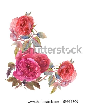 Pink Roses  Pattern - stock photo