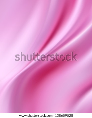 Pink Silk Fabric for Drapery Abstract Background - stock photo