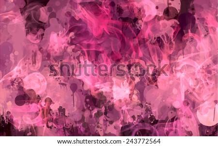 Pink smoke abstract background - stock photo