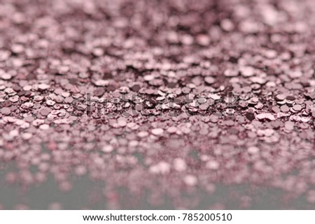 Pink Soft Blurred Boke Background. Abstract Circles of Christmaslight. Spangles and Shiny Pink Color Background. Bright Background. Glamorous background for your design and decoration.