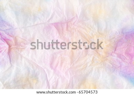 Pink stained tissue paper background - stock photo