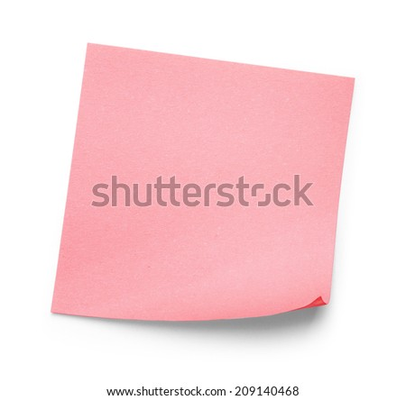 pink sticker on an isolated white background - stock photo