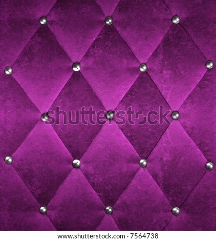 pink stylish fabric with knobs - stock photo