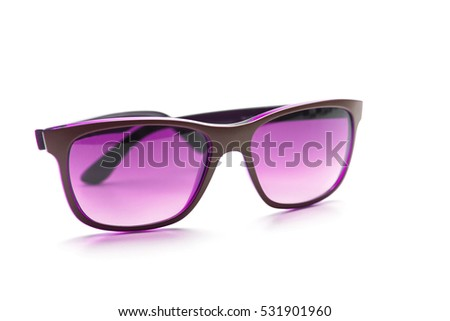 Pink Sunglasses. Isolated on white background