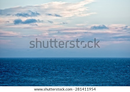 pink sunrise background on the sea