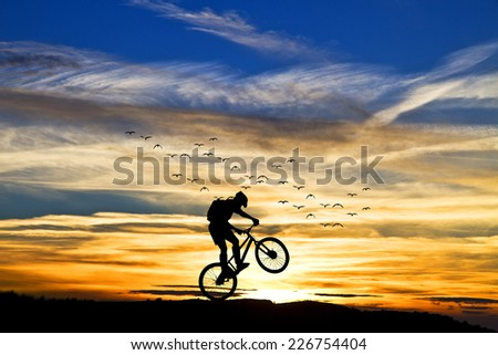 pink sunset - stock photo