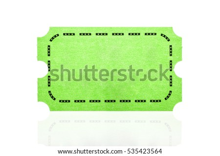 Pink ticket isolated on white background.