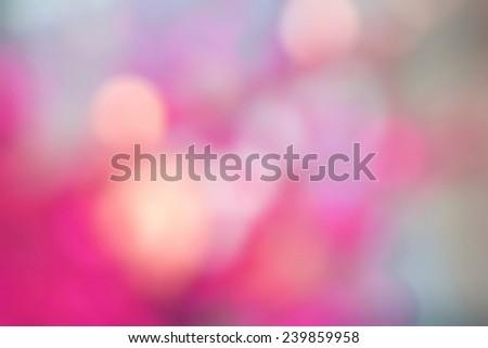 pink tone blur bokeh on defocused background - stock photo
