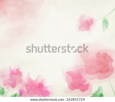 Pink tone color water flower background. - stock photo