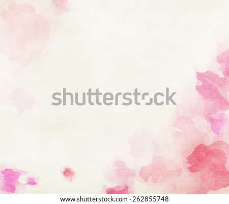 Pink tone watercolor flower background. - stock photo