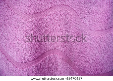Pink Towel Close up - stock photo