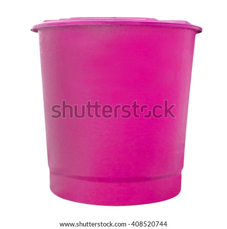 pink water fiberglass tank isolated on white background,clipping path