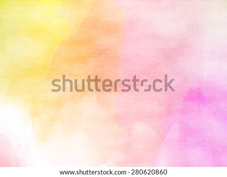 Pink watercolor background with space for text  - stock photo