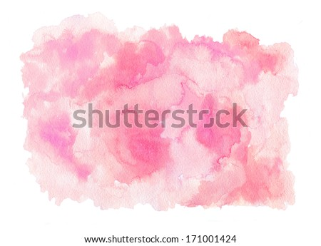 Pink watercolor texture - stock photo