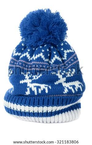 Pink Winter Ski Hat Reindeer Pattern Stock Photo Royalty Free