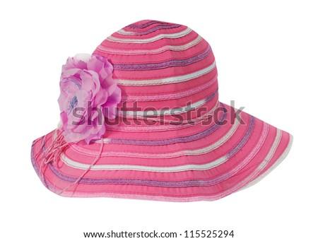 pink women hat - stock photo