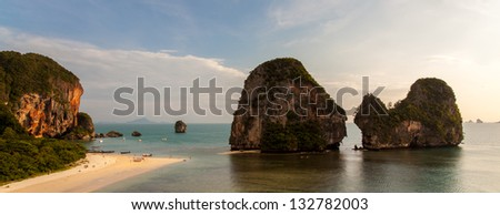 Pinnacles at Pranang beach, Railay. Considered one of Thailands most beautiful beaches.