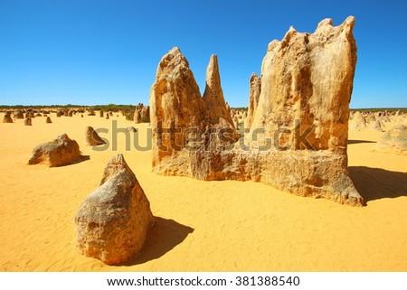 Pinnacles Desert, Australia - stock photo