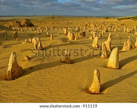 Pinnacles Desert, Western Australia - stock photo