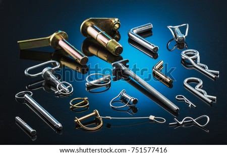 Pins Clevis Pins Wire Lock Pins Stock Photo 751577416 - Shutterstock