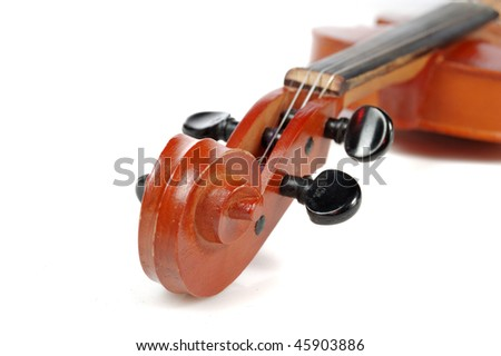 pins of violin isolated on white