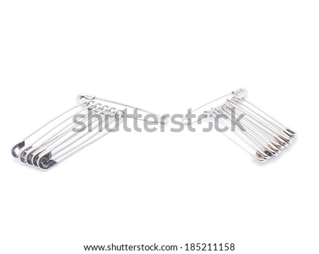 pins on a white background - stock photo