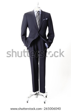 Pinstripe suit, business suit, suit for the company, tie, colorful tie