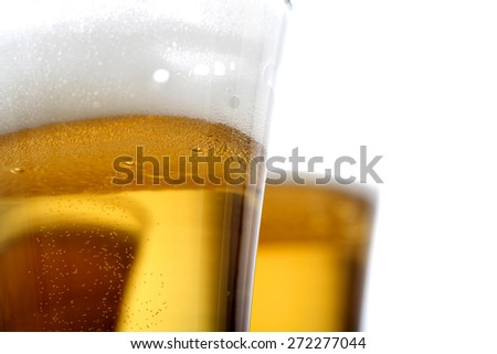 Pint of beer - studio shot