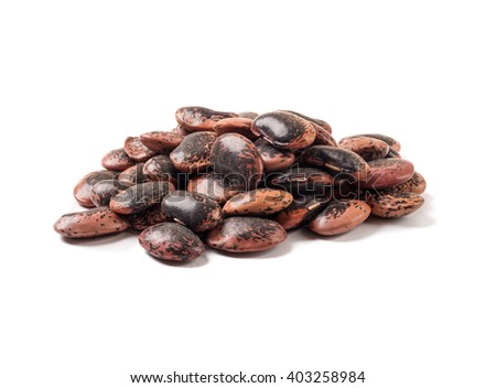 Pinto beans isolated on white background - stock photo