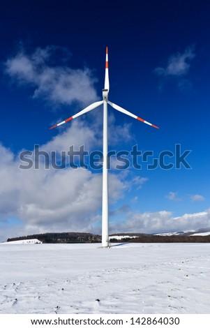 pinwheel, wind wheel in the winter - stock photo