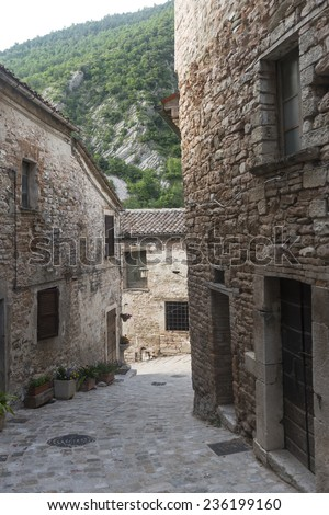 Piobbico (Pesaro e Urbino, Marches, italy): old village